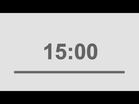 15 minute countdown timer with alarm