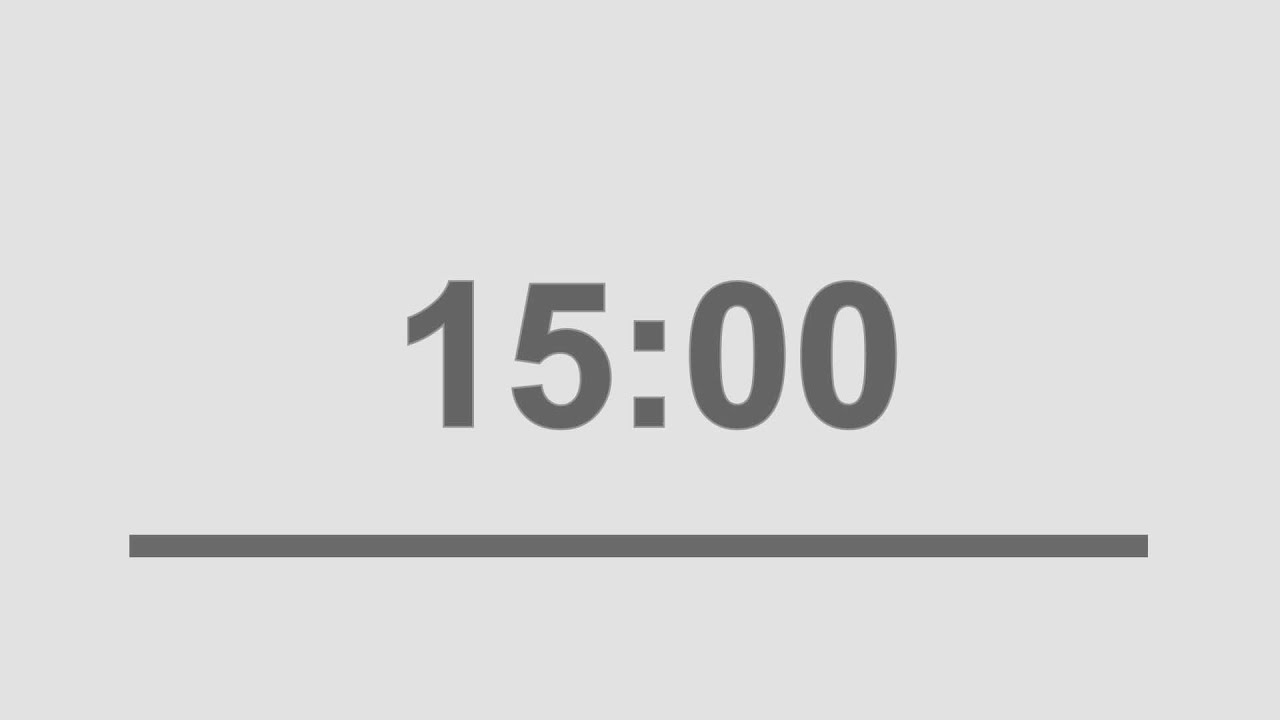 15 minute countdown timer with alarm youtube