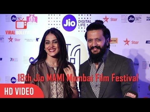 Riteish Deshmukh And Genelia D'Souza At 18th Jio MAMI Mumbai Film Festival 2016