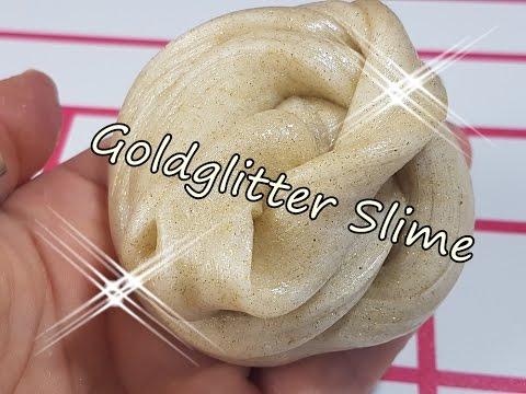 Fluffy Slime Goldglitter Selbermachen Ohne Borax Ohne Waschmittel