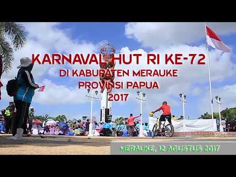 KARNAVAL HUT RI KE-72 DI MERAUKE-PAPUA.. KEREN!!!!