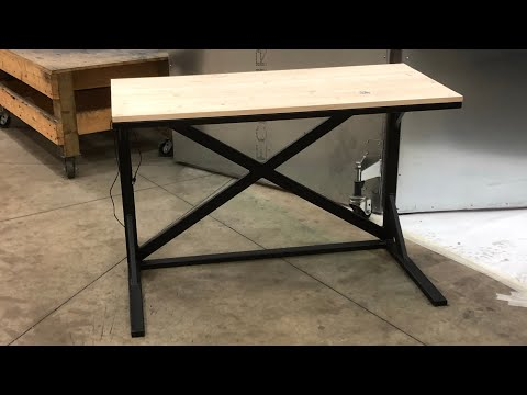 DIY Metal Desk With Wireless Charging