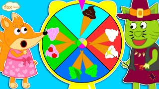 The Fox Family and Friends | Rainbow Ice Cream on the Wheel of Fortune |  Cartoon for kids #825