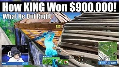How KING Won 5th In World Cup and $900,000! What He Did Right and Wrong! (Fortnite Vod Review)
