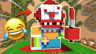 LA TERRIBLE HISTORIA DEL PAYASO ASESINO NOOB 😂 MINECRAFT BUILD BATTLE #13