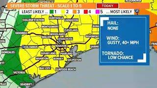 Live Radar: Severe threat along cold front this morning screenshot 1