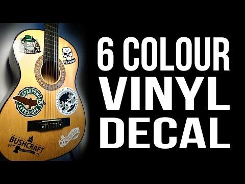 6 Colour Vinyl Decal / Sticker