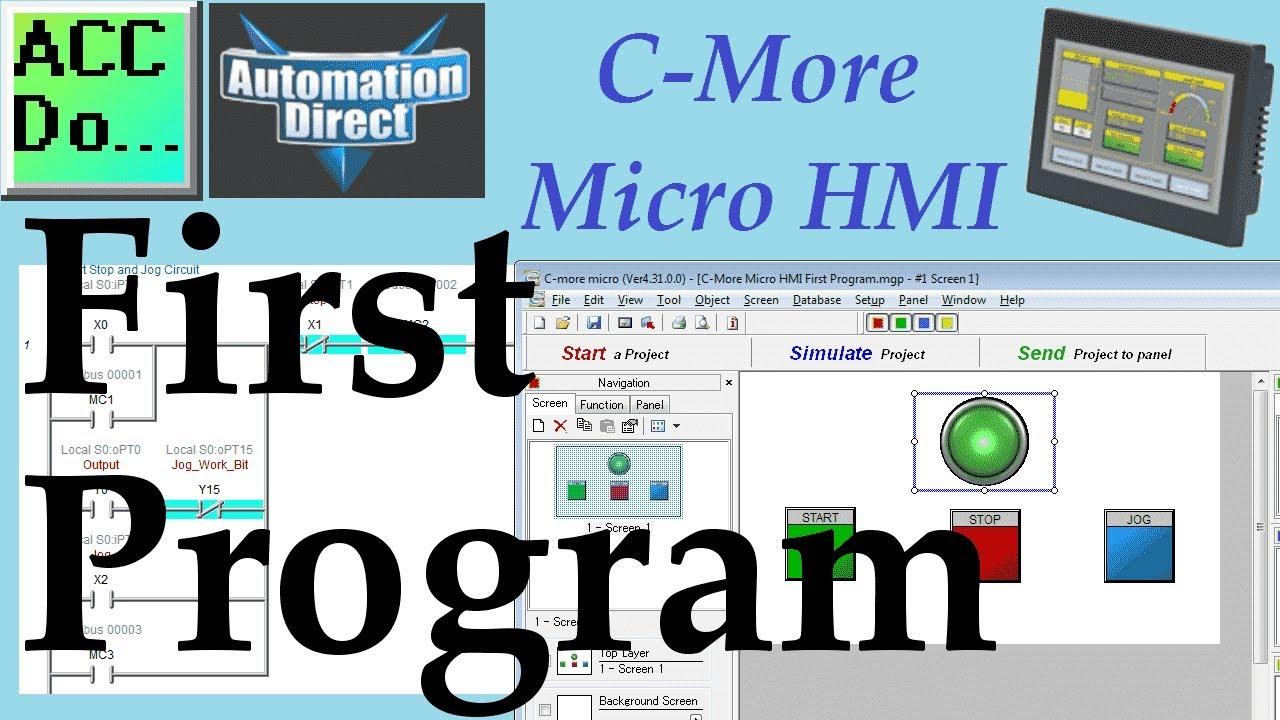C More Micro HMI First Program - YouTube