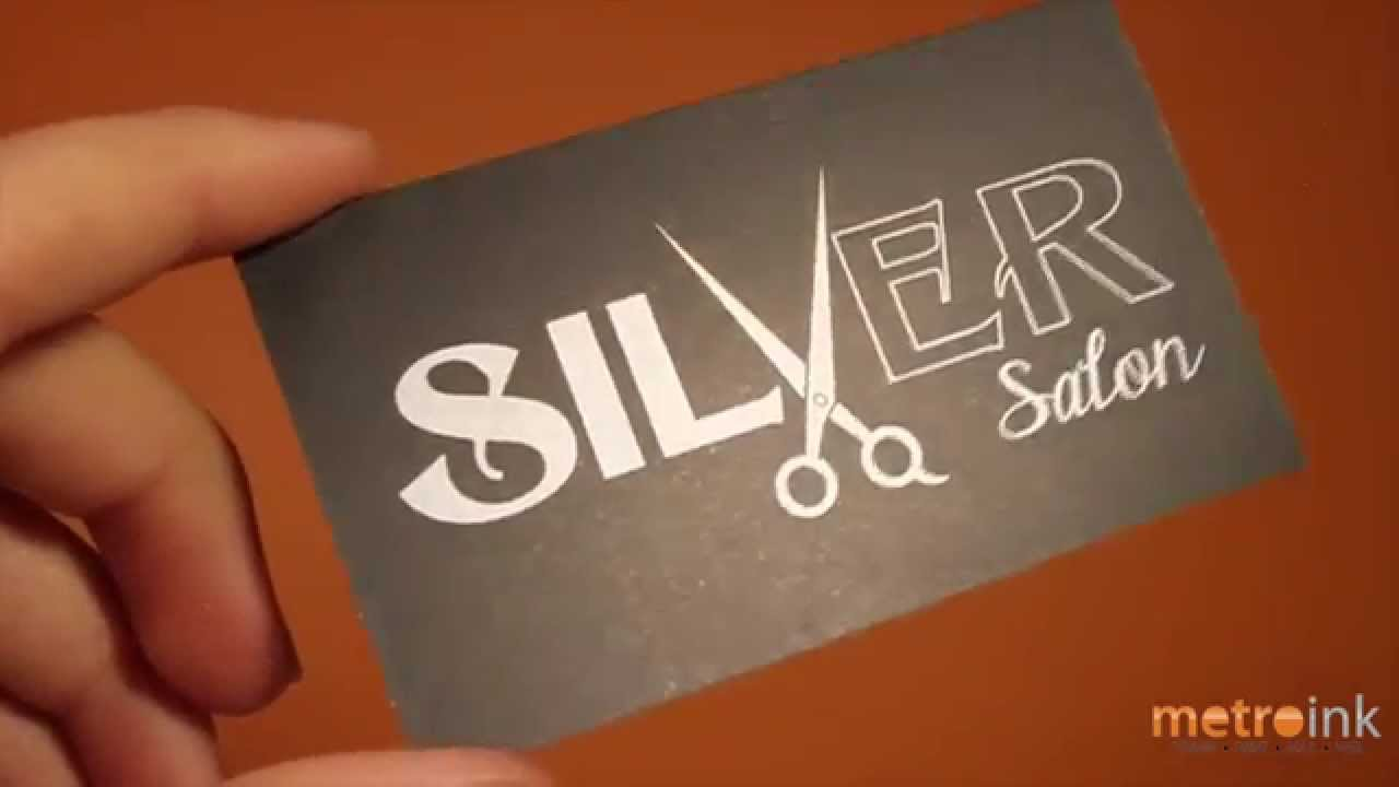 Metroink metallic business card silver salon youtube metroink metallic business card silver salon magicingreecefo Image collections