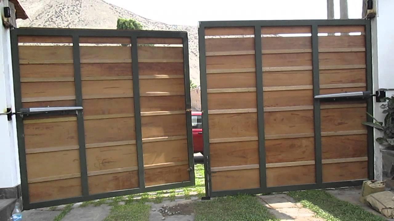 Puertas batiente jv youtube for Como hacer un porton de madera economico