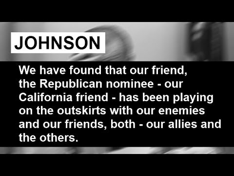 Phone call between Lyndon Johnson and Georgia Senator Richard Russell October 30 1968