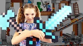 Майнкрафт шахта - подружка Света выручает Стива