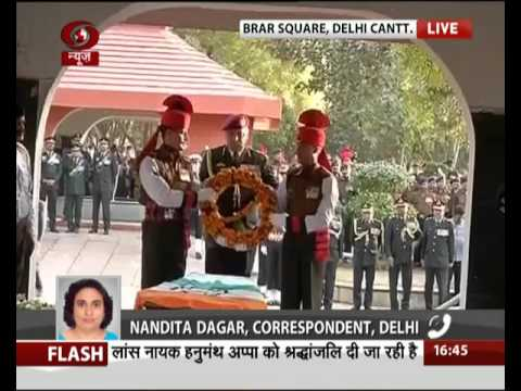 Wreath laying ceremony for HanumanthAppa at Brar Square, Delhi