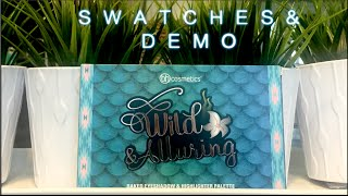 wild alluring swatches and demo bh cosmetics