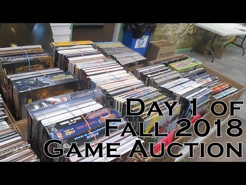 Day 1 of Fall 2018 Game Auction (11/10/18)