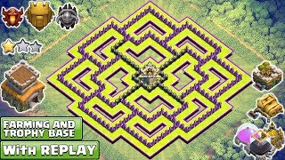 New 'BEST' Town Hall 8/TH8 TROPHY/FARMING Base Design! With REPLAY PROOF! Anti TH9 & Anti eveything