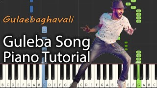 Guleba Song Piano Tutorial Notes & MIDI | Gulaebaghavali | Tamil Song