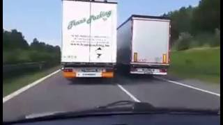 Truck overtaking on Slovak Highway D2 (Never Give Up the Duel)