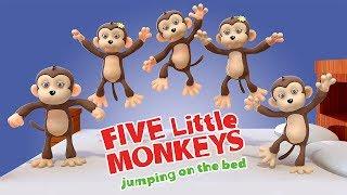 Five Little Monkeys | Baby Songs by Nani and Babu