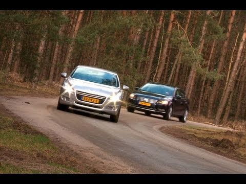 Volkswagen Passat vs Peugeot 508 (English subtitled)
