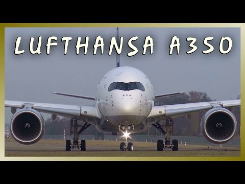 LUFTHANSA Airbus A350 | D-AIXA | Close-Up Departure from Hamburg Airport