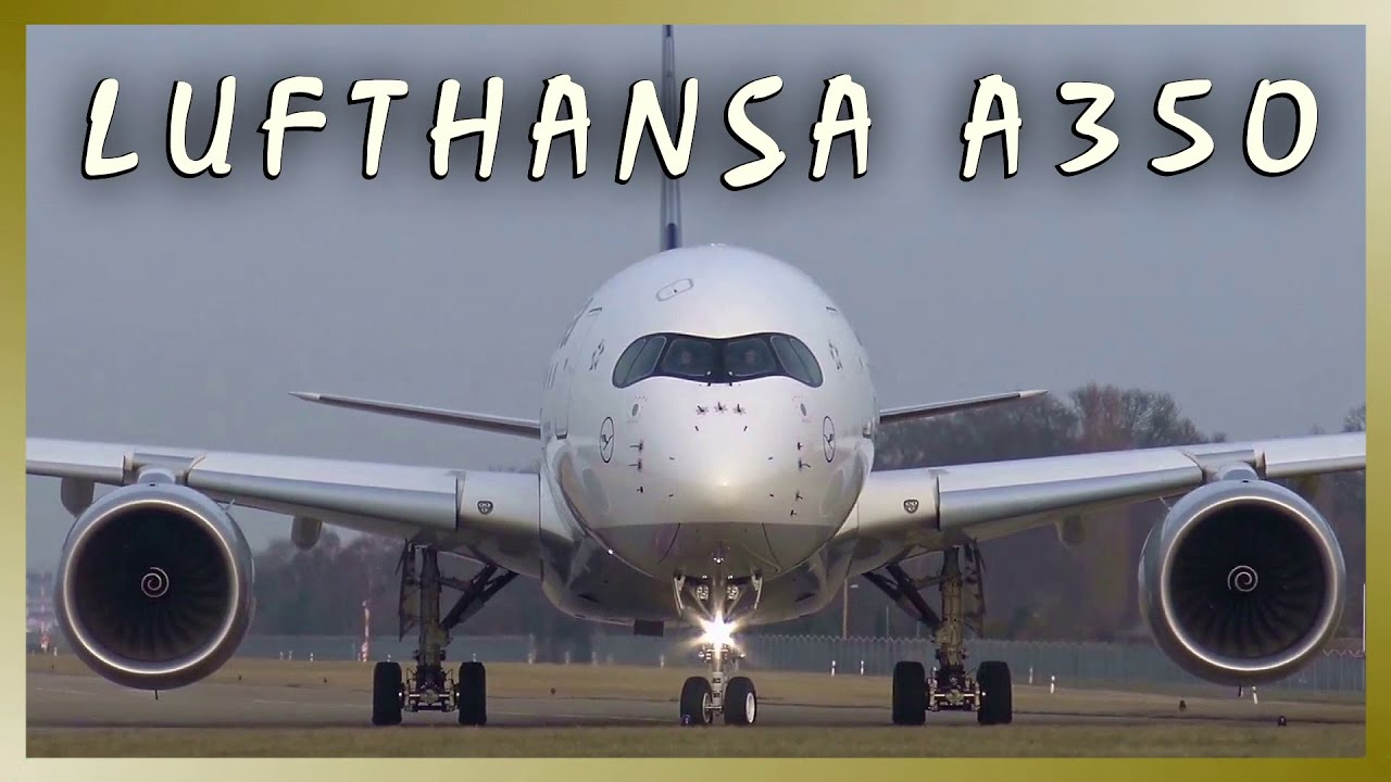 Lufthansa airbus a d aixa close up departure from