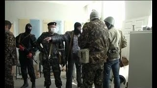 В Луганске прозвучал первый выстрел в захваченном здании СБУ