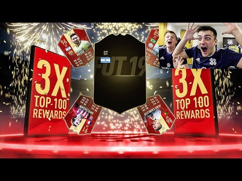 3x TOP 100 FUT CHAMPIONS REWARDS!! 30 INFORMS 10 RED PLAYERS! RANK 1 FIFA 19 PACK OPENING!!