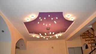 видео Дизайн потолка в коридоре: потолки из гипсокартона и натяжные
