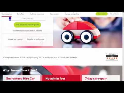 Car insurance quotes online Car insurance  Direct Line 38