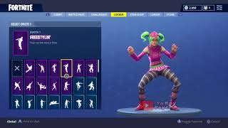 Fortnite zoey freestylin and electro shuffle [40 min]