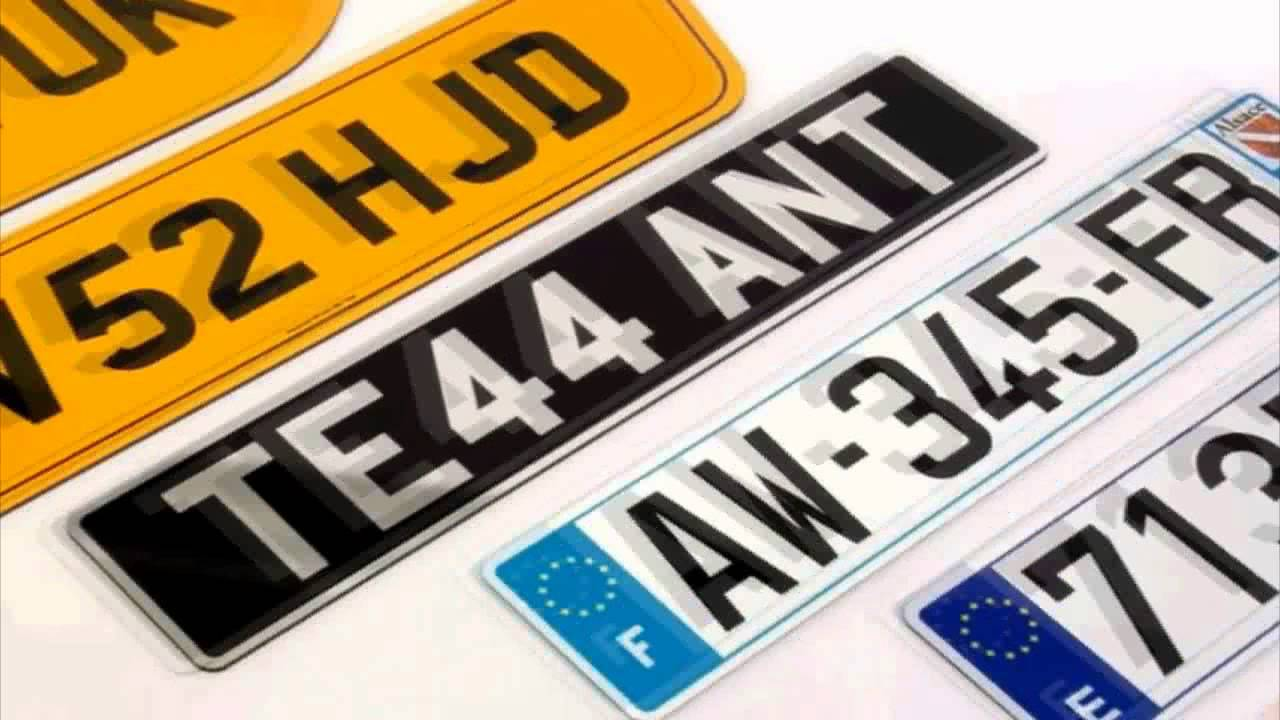 GB Show Plates UK\'s Best Number Plate Maker - YouTube