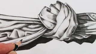 How to Draw a Realistic Fabric Knot: Narrated Art Tutorial