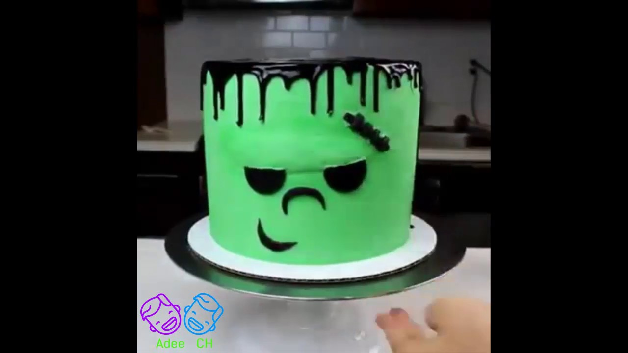 How To Make Frankensteins Cake Diy Halloween Cake Youtube