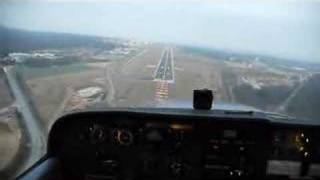 Cessna 172 LX-AIC on approach ELLX Luxembourg Findel airport