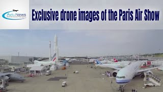Exclusive drone images of the paris air show
