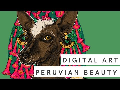 Peruvian Beauty | Digital Art