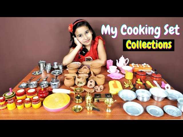 My Kitchen Set collections / Miniature cooking set collections| #LearnWithPari