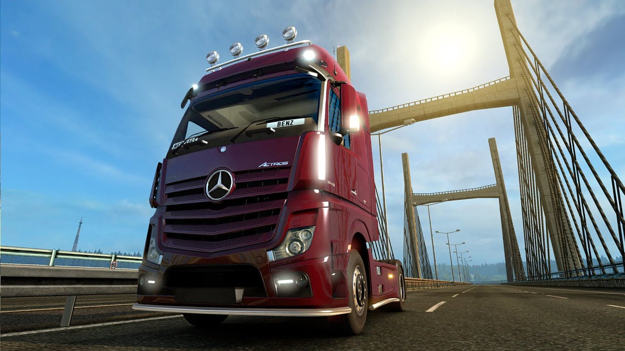 euro truck simulator 2 new actros and scandinavia youtube. Black Bedroom Furniture Sets. Home Design Ideas