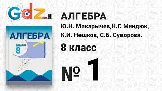 № 1- Алгебра 8 класс Макарычев
