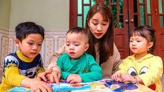 Cô Giúp Việc Vui Tính Dạy Bé Chi Học Tập  Gia Đình Là Số 1  Bé Chi TV