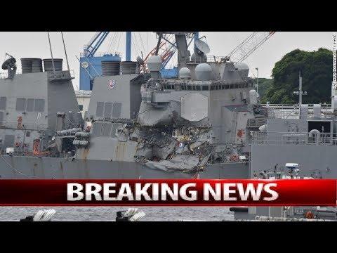USS Fitzgerald crash: Sailors found dead after Japan collision !Missing US Navy sailors found dead