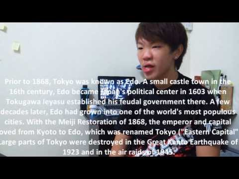 Tokyo - English Oral Video Assignment