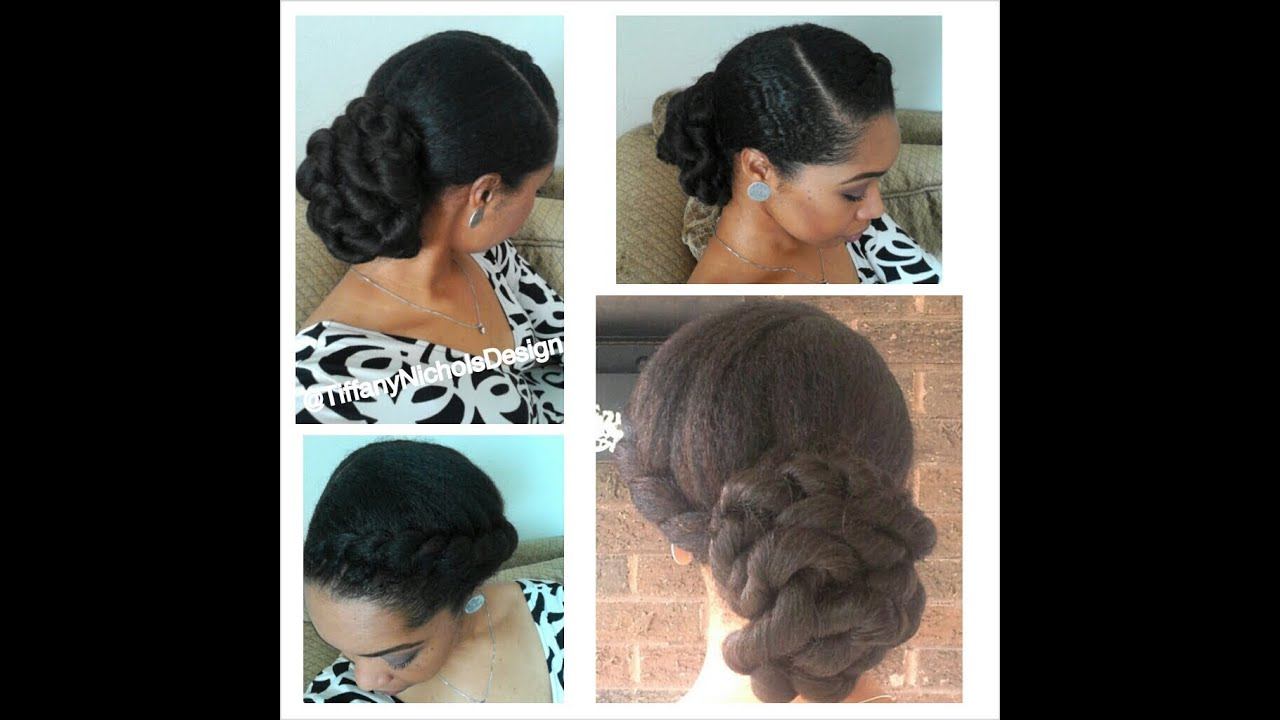 Natural Hair Style Elegant Twisted Bun Youtube