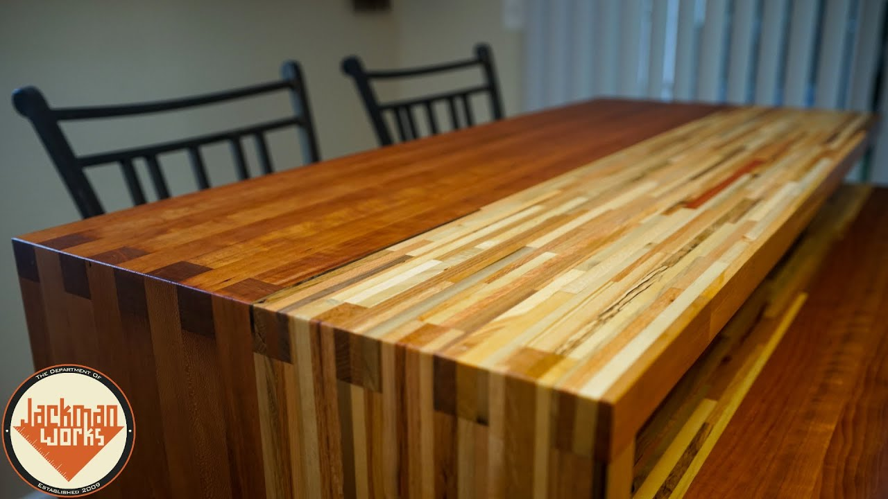 Pallet Wood Butcherblock Countertop