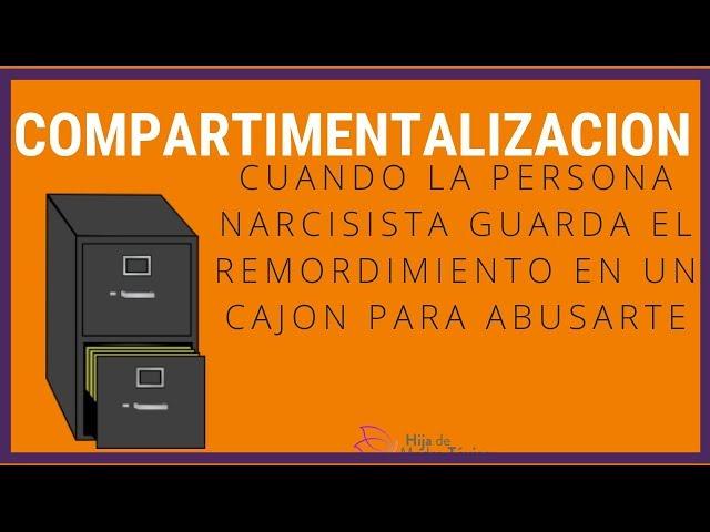 Compartimentalización. La persona narcisista abusa sin remordimiento