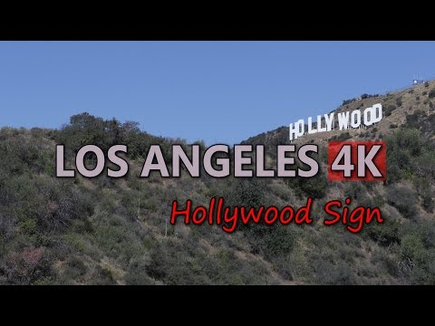 Ultra HD 4K Los Angeles Travel Hollywood Hills Iconic Sign LA Trip Tour Day UHD Video Stock Footage