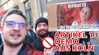 Demo: Gegen Artikel 13 auf der Straße in Köln!