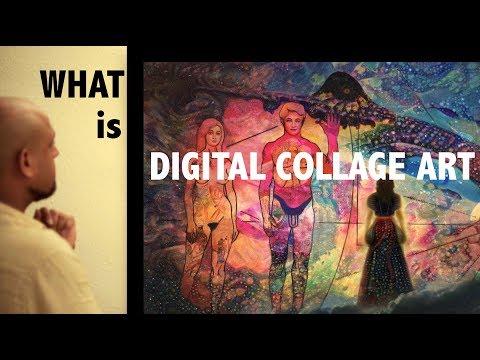 DIGITAL COLLAGE ART - Artist TALK