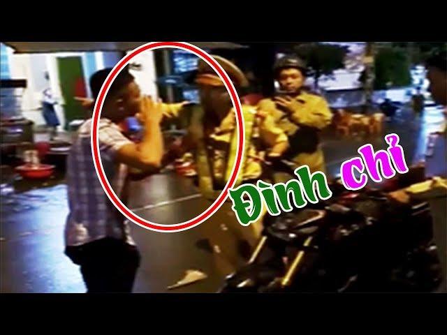 Đình chỉ công tác viên CSGT tự ngã để ăn vạ người tham gia giao thông trong clip trên facebook